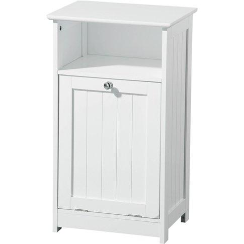 Floor Standing Wooden Bathroom Cabinet In White
