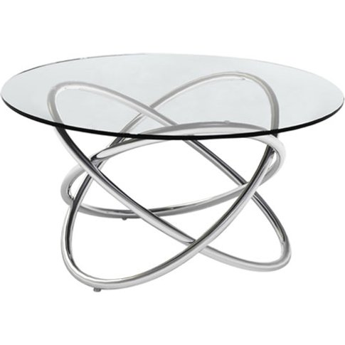 Villa Lamp Table In Clear Glass Top With Stainless S...