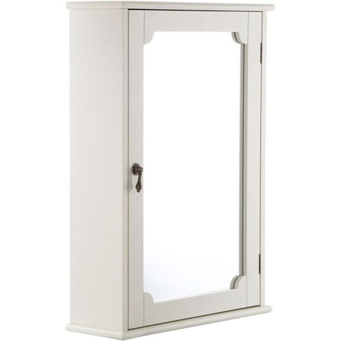 Ramona Bathroom Wall Cabinet In Ivory With 1 Mirrore...
