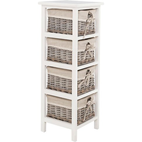 Mesan Chest Of Drawers In Paulownia Wooden Frame Wit...