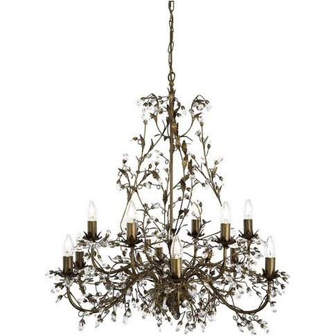 Almandite Brown And Gold Ceiling Light With Crystal ...