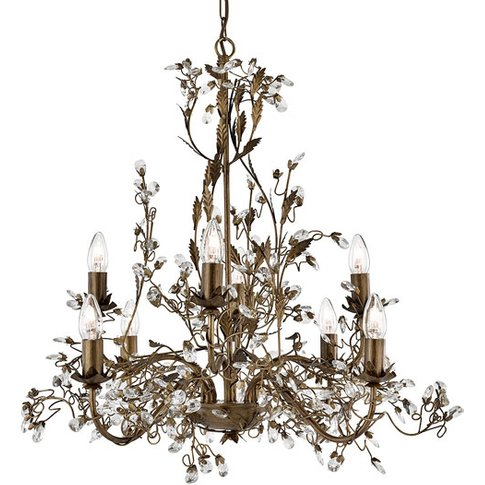 Almandite Brown Gold Chandelier Ceiling Light