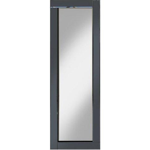 Bevel 120x40 Wall Mirror In Smoke Grey Glass Border