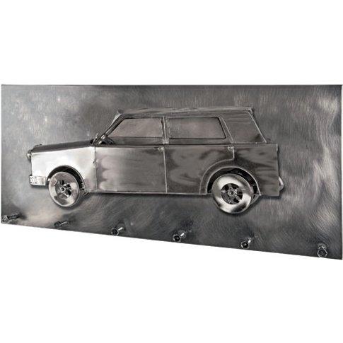 Big Car Wall Mounted Coat Rack In Black Nickel With ...