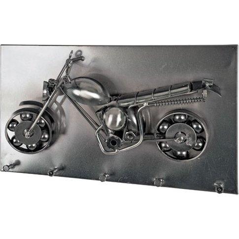 Moto Wall Mounted Coat Rack In Black Nickel With 5 H...
