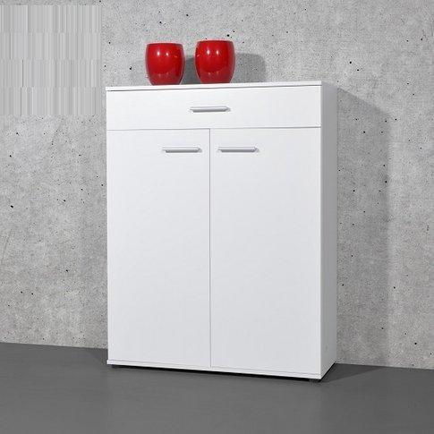 Stewart Shoe Storage Cabinet In White With 2 Doors