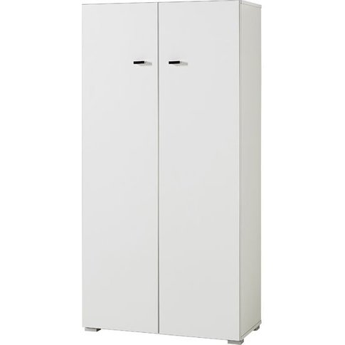 Montreal Home Office Cabinet Small In White With 2 D...