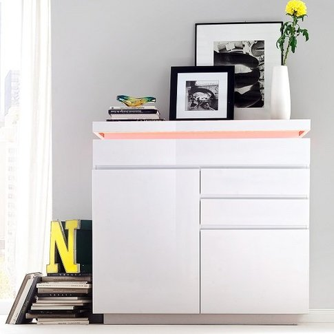 Odessa Small Sideboard 3 Drawer in High Gloss White ...