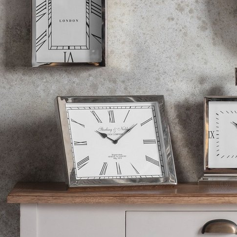 Reflux Wall Clock With Polished Aluminium Nickel Frame
