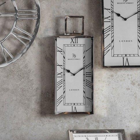 Jarvey Small Wall Clock In Polished Aluminium Frame