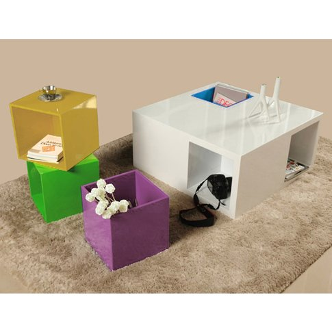 Deco High Gloss Coffee Table With Storage
