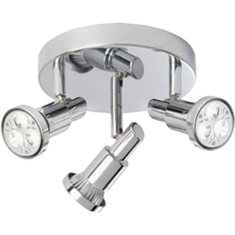 Torch Three Chrome Ceiling Spotlight With Circular B...