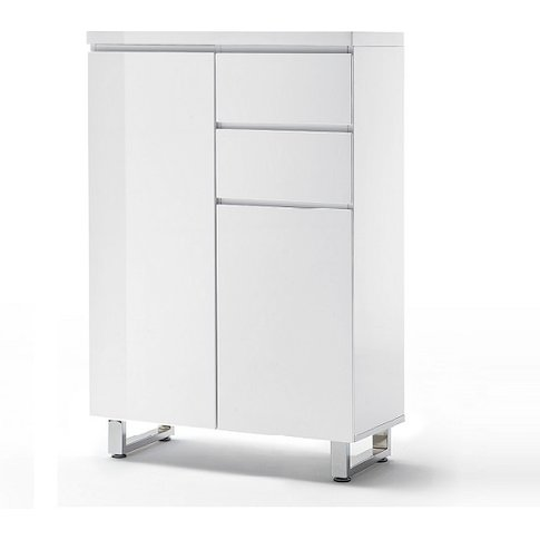 Sydney 2 Door Shoe Cabinet In High Gloss White With ...