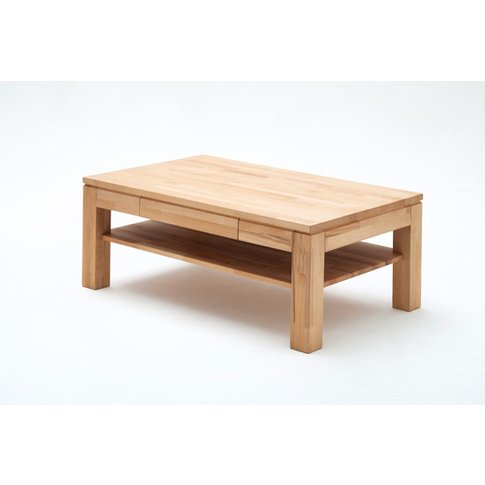 Julien Oak Rectangle Coffee Table With 1 Drawer And ...