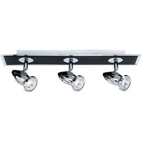 Comet Chrome And Black Three Light Spotlight Bar