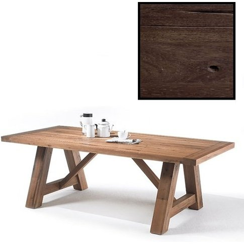 Bristol Wooden Dining Table In Solid Dark Oak In 180cm
