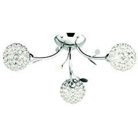 Bellis Ii 3 Lamp Chrome Ceiling Light With Glass But...