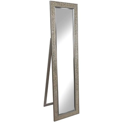 Aliza Floor Standing Cheval Mirror In Champagne Mosa...