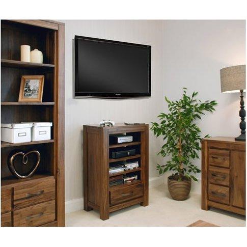 Sayan Walnut Entertainment Ancillaries Storage Unit
