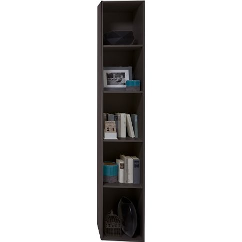 Clovis Shelving Unit In Lave Front Carcase With Conc...