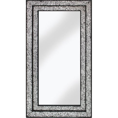 Betsy Wall Mirror Rectangular In Mosaic Black And Si...