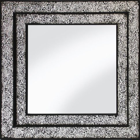 Betsy Wall Mirror Square In Mosaic Black And Silver ...