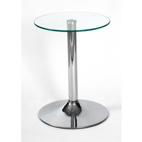 Drew Lamp Table In Clear Glass Top