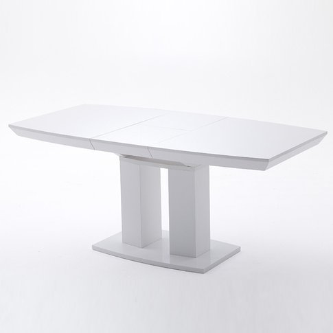 Genisimo Extendable Pedestal Dining Table Large In H...