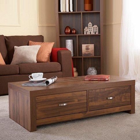 Halstead Coffee Table Rectangular In Warm Acacia Woo...