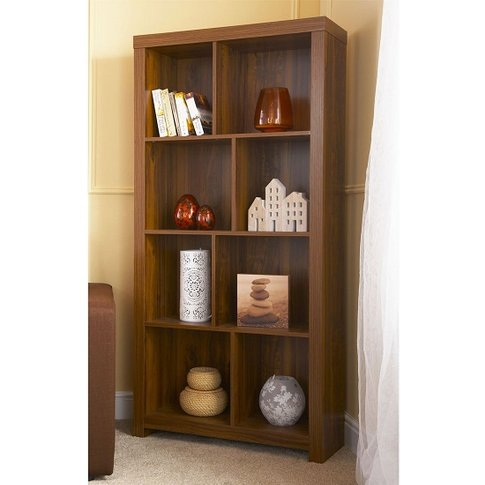 Halstead Tall Shelving Unit And Bookcase In Warm Aca...