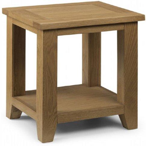 Raven Wooden Lamp Table In Oak Finish