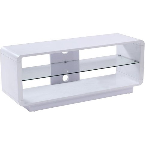 Lucia Lcd Tv Stand Medium In High Gloss White With G...