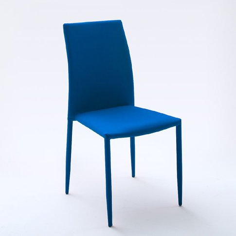 Mila Upholstered Blue Dining Chair