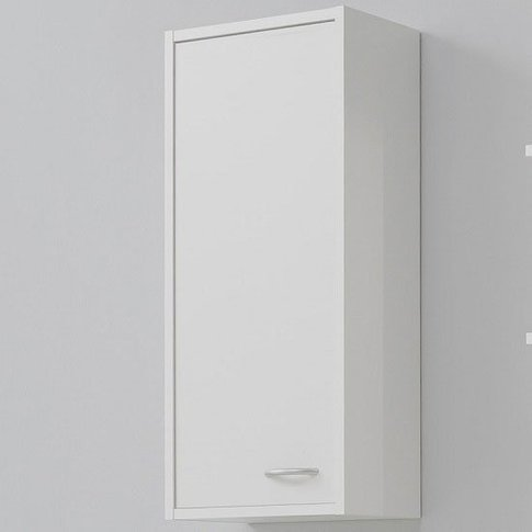 Madrid1 Wall Mount Bathroom Storage Cabinet In White...