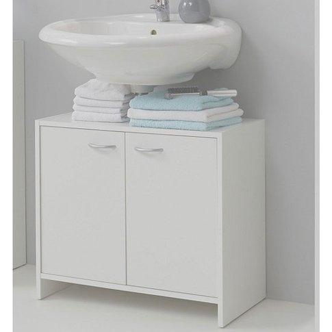 Madrid7 Bathroom Vanity Cabinet In White With 2 Door