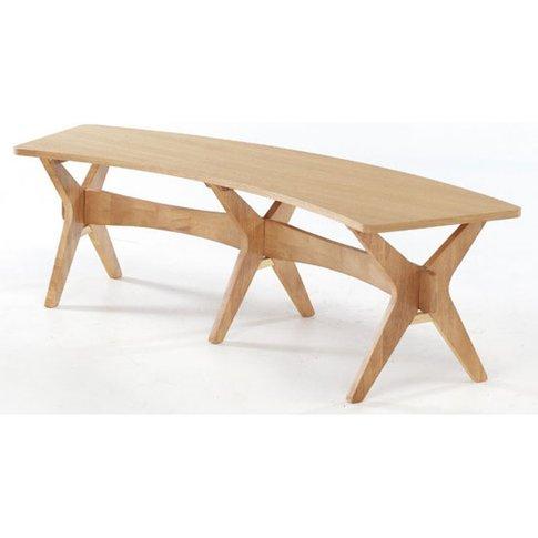 Malun Contemporary White Oak Finish Dining Bench