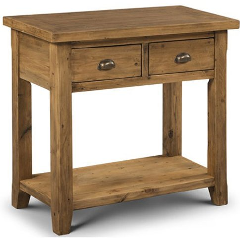 Dorset Console Table In Solid Pine With 2 Drawer And Undershelf