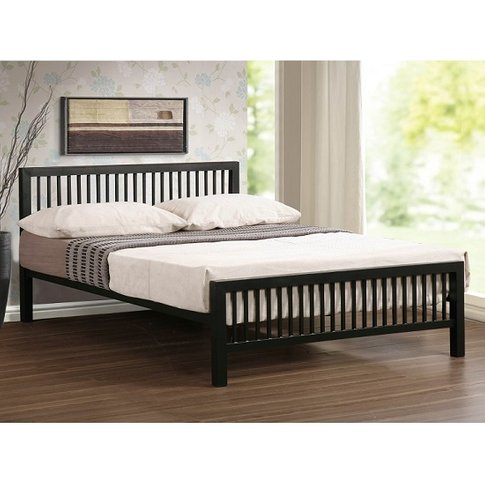 Meridian Ultra Modern Bed In Black Metal