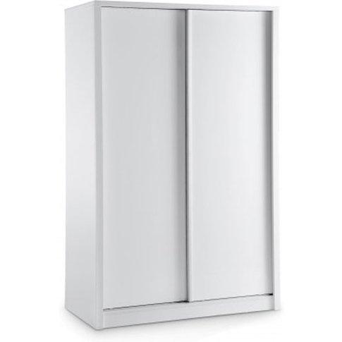 Nova White High Gloss Finish 2 Door Sliding Wardrobe