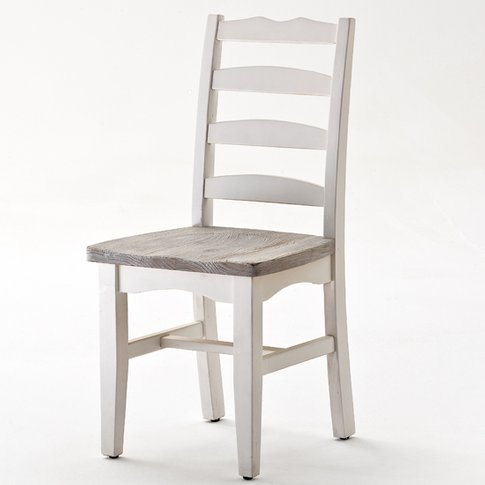 Opal Dining Chair Cottage Style In White Pine