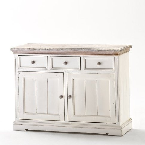 Opal Sideboard In White Pine With 3 Drawers