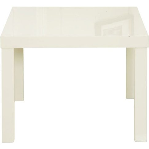 Curio Cream High Gloss Finish Lamp Table