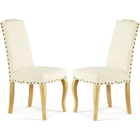 Madeline Dining Chair In Pearl Fabric And Oak Legs I...