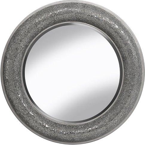 Kyra Decorative Wall Mirror Round In Silver