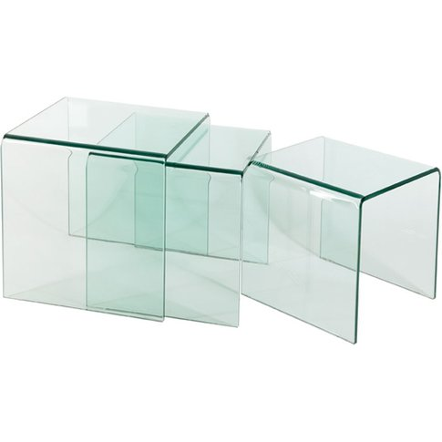 Solitaire Nest Of Tables In Clear Glass