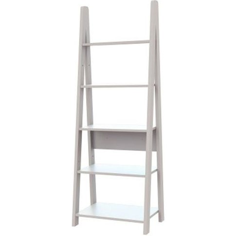 Paltrow Bookcase In White With Ladder Style