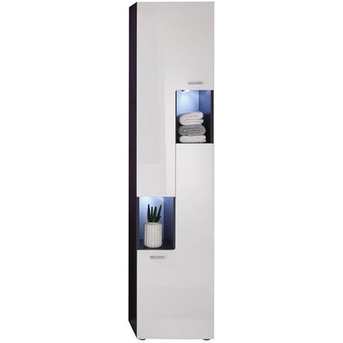 Tetis Bathroom Cabinet Right In Graphite And White G...