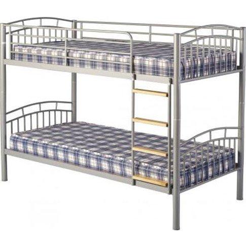 Ventura 3' Metal Bunk Bed In Silver