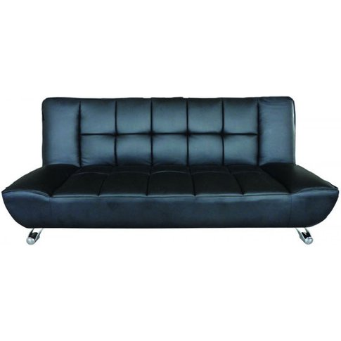 Vanessa Black Faux Leather Sofa Bed