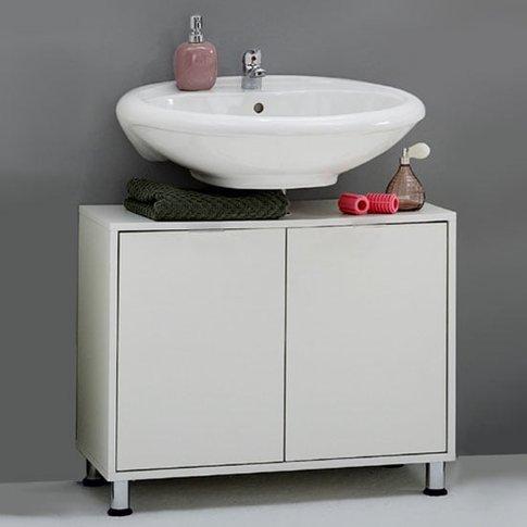 Zamora 4 White Modern Bathroom Vanity Without Wash B...